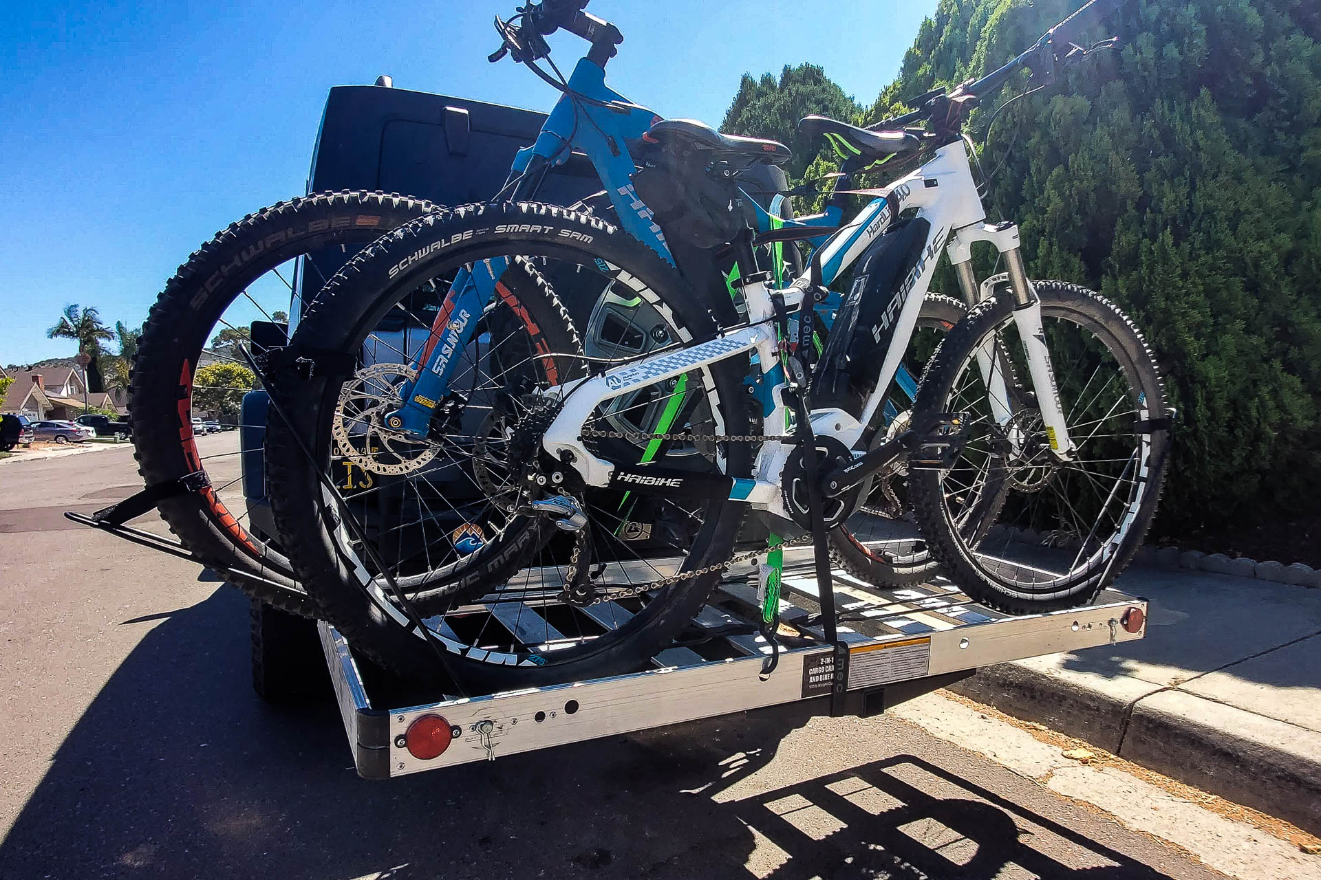 Tow Tuff Cargo Carrier with Bikes