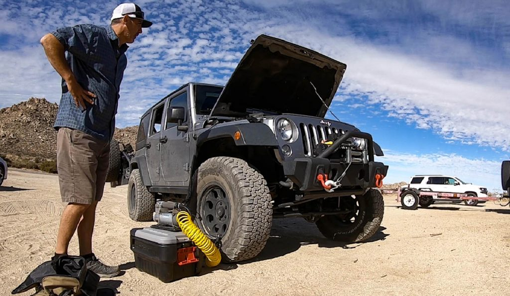 Reinflating tires after off-roading