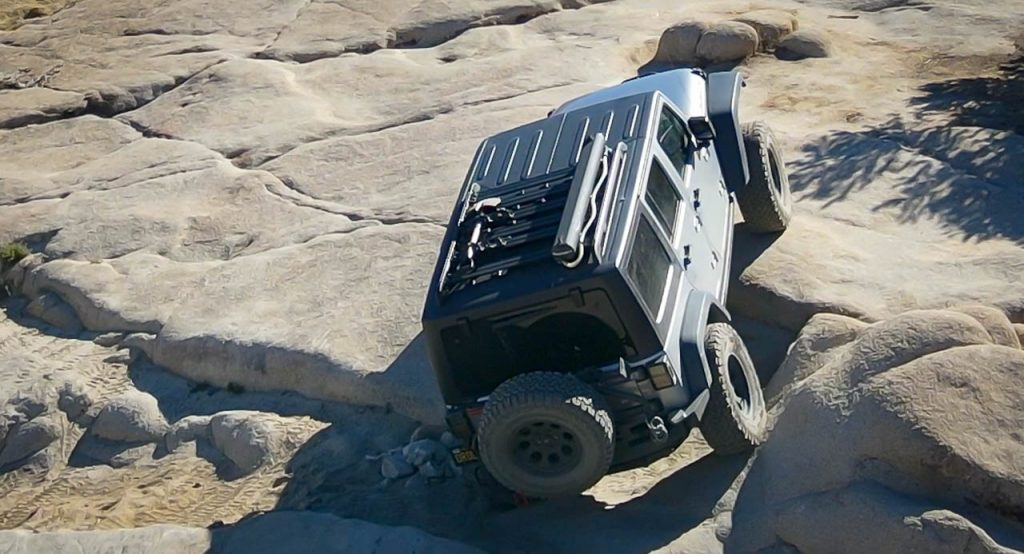 Jeep off-road driving
