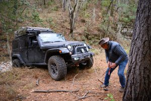 Off-road recovery Jeep