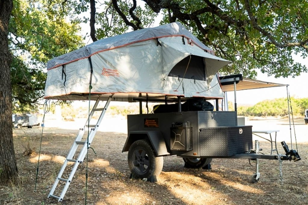 Overland Trailer with Roof-Top Tent